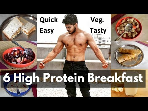 6 High Protein Healthy Breakfast Options | Breakfast recipes for bodybuilding | Full day of Eating