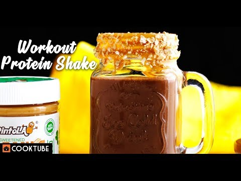 Workout Protein Shake Recipe | Healthy Peanut Butter Protein Shake Recipe