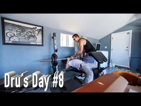 Dru's Day Episode 8 – HB 24 Hour Fitness Workout / Shoulders – Tips on Picking up Gym Chicks