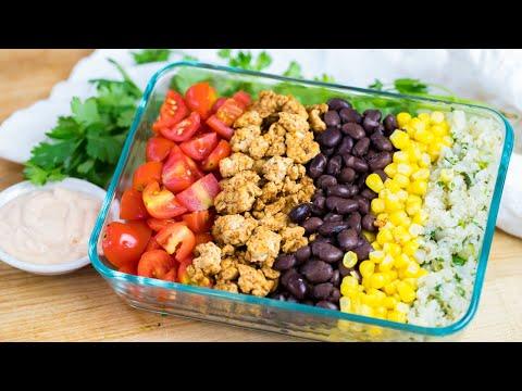 CHICKEN BURRITO BOWL | lunch meal prep