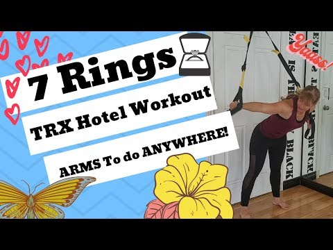 Workout At Home with TRX Exercises// Ariana Grande 7 Rings// Beginner Fitness