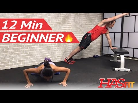 12 Min Beginner HIIT Workout without Equipment at Home – Easy Beginners Workout Routine Exercises