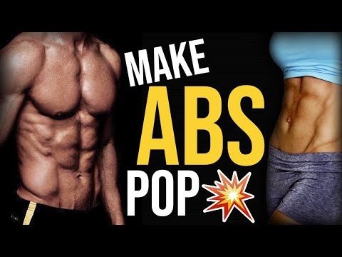 How To Get Your Abs To Pop Out And Show More 💥 4 TIPS