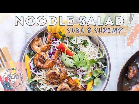 FRESHEST Summer SOBA NOODLE SALAD with Grilled Shrimp 🍤