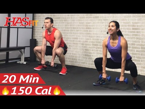 20 Min Beginner Strength Training for Beginners Workout – Weight Lifting Dumbbell Workouts Women Men