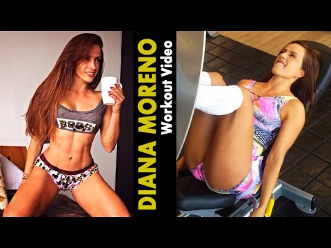 DIANA MORENO – Fitness Model: Exercises and Workouts for Women – Abs, Legs and Glutes @ Colombia