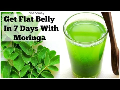 Get Flat Belly/Stomach In 7 Days – No Diet/No Exercise – 100% Natural Moringa Green Detox Diet Drink