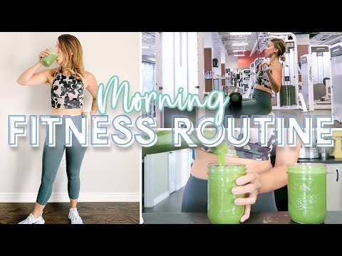 Couples Morning Fitness Routine || His and Hers Post Workout Smoothie Recipes!