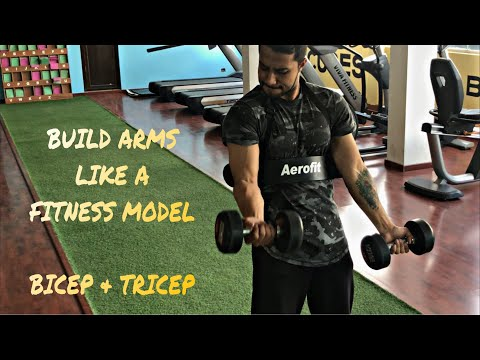 How to build arms like fitness model/ male model | Lean and sharp