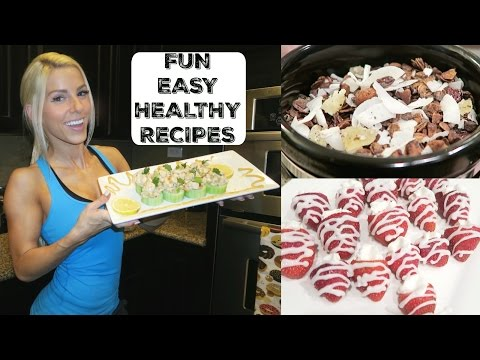 Homemade Granola, Chicken Bites, & Frosted Strawberries | Cooking with Buffbunny