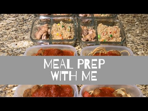 QUCK MEAL PREP RECIPE! Chicken fried rice and spaghetti 😋