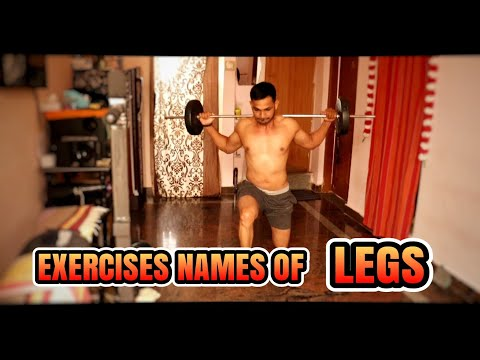 EXERCISES NAMES OF LEGS|MY FITNESS KANNADA CHANNEL