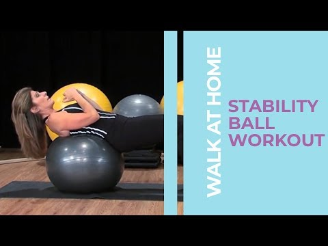 Easy Stability Ball Workout Routine | Walk At Home Fitness Videos