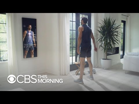 This smart mirror puts a personal trainer in your reflection