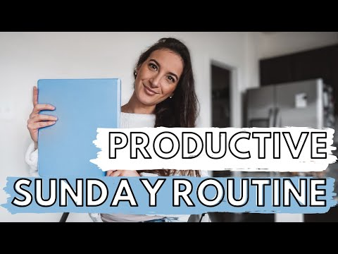PRODUCTIVE SUNDAY ROUTINE 2020: Leg Workout, Cleaning, Self Care, Groceries, Meal Prep & Planning