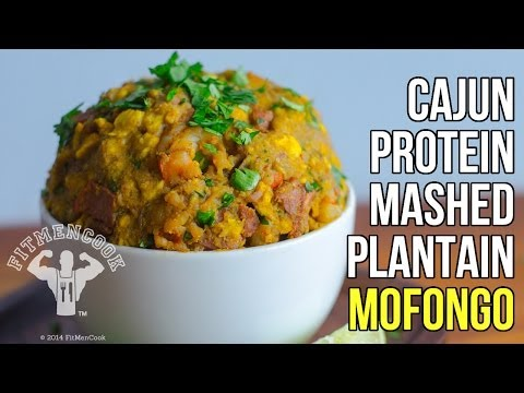 FitMenCook Cajun Mashed Plantains Healthy Mofongo Meal Prep Recipe / Receta de Mofongo Cajun