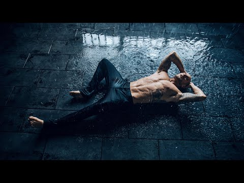 Doing a photoshoot in the RAIN with Male Fitness Model