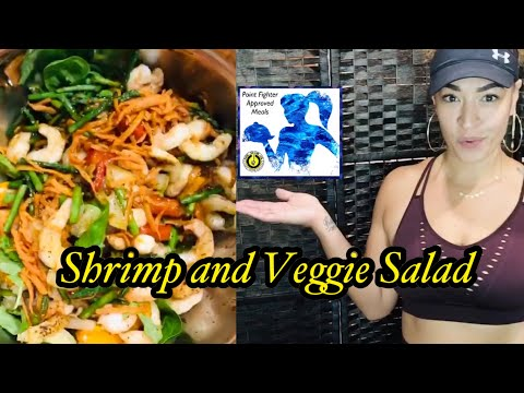 🍤 🥗Shrimp and Vegetable 😋 Point Fighter Approved Meals with Sheyla with mini Workout 💪🏼