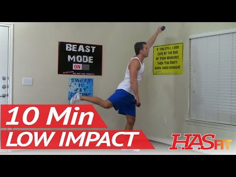 10 Min Low Impact Cardio Workout for Beginners – Low Impact Workout & Aerobic Exercises