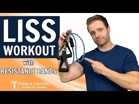 25-Minute Low Intensity LISS Workout At Home | WITH RESISTANCE BANDS