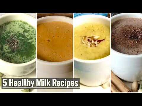 5 Healthy Warm Milk Recipes for Weight Loss | Winter Evening or Bed Time Drinks | Boost Metabolism