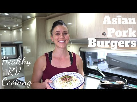 Asian Pork Burgers with Slaw | RV Cooking & Healthy RV Recipes #33