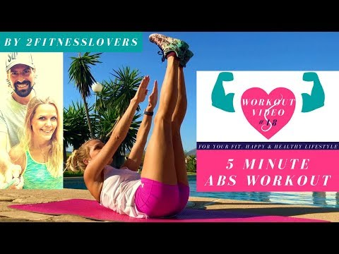 5 Minute Stronger Abs Workout With Music | Outdoor Workouts For Home Fitness