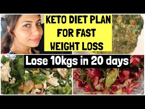 Indian Keto Diet Plan for weight loss | Lose 10kgs in 20 days | Azra Khan Fitness