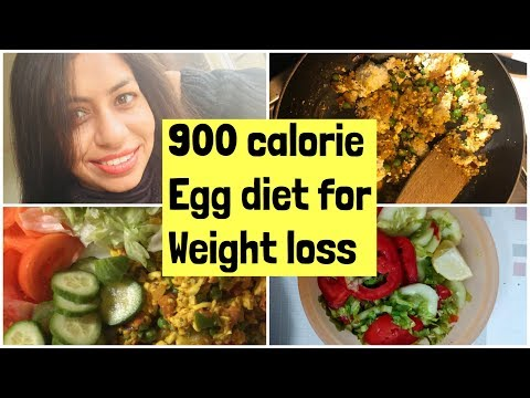 Lose 10kgs in 10 Days Egg Diet Plan For Weight loss | 900 calorie Egg diet plan to lose 10kgs