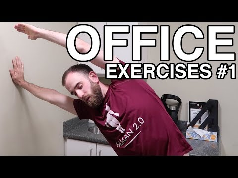 OFFICE EXERCISES #1 | exercises to do at work | healthy living & fitness tips | Human 2.0