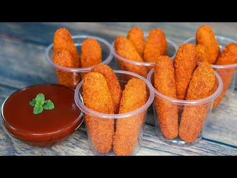 Chicken Cheese Fingers Recipe | Snacks Recipe | Chicken Fingers | Toasted