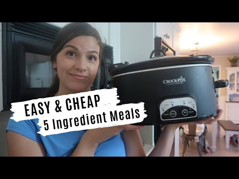 7 EASY & HEALTHY CROCKPOT MEALS: 5 INGREDIENTS OR LESS RECIPES ON A BUDGET