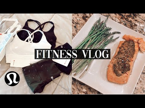 FITNESS VLOG- What I Eat In A Day, Work Out With Me, & Lululemon Haul