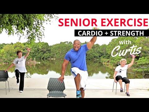 SENIOR FITNESS –  Strength training + Cardio + Core exercises for seniors + Balance workout
